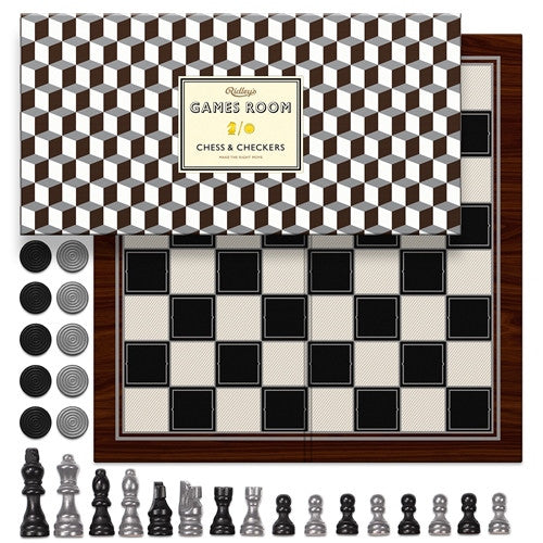 Ridley's Game Room Chess & Checkers Metallic | Wild & Wolf -  Bloomsbury Store