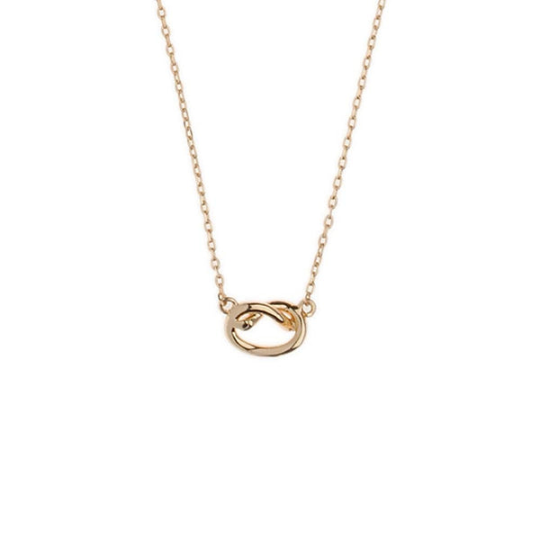 Orelia Necklace Love Knot | Gold -  Bloomsbury Store