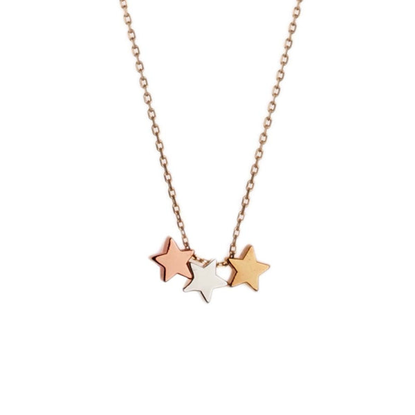 Orelia Necklace Three Star | Gold -  Bloomsbury Store