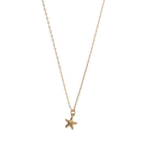 Orelia | Starfish Gold Plated Necklace  | Bloomsbury Store