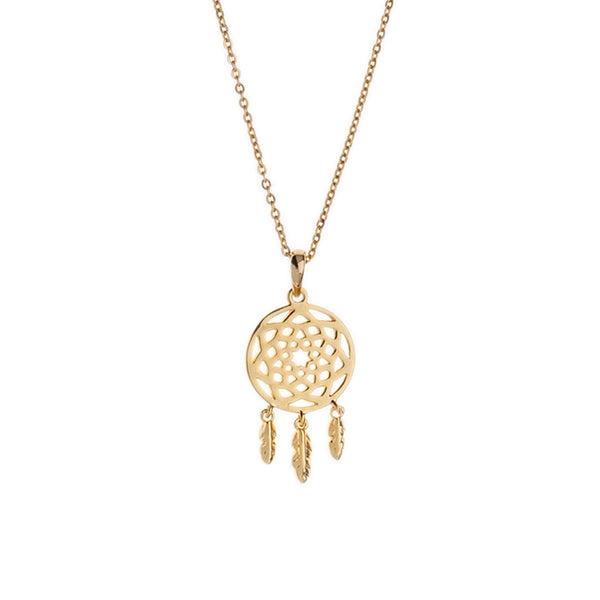 Orelia | Gold Plated Dream Catcher Necklace  | Bloomsbury Store