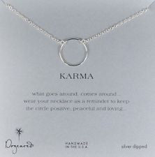 Large Smooth Karma Necklace | Silver -  Bloomsbury Store