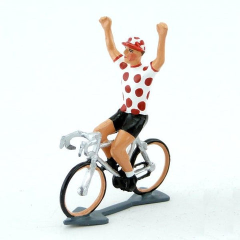 Cycling Figure | Spotted Jersey Hands Up -  Bloomsbury Store