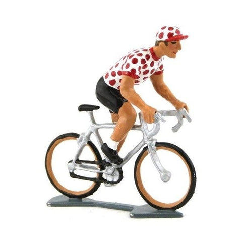 Cycling Figure | Spotted Jersey Standing On Pedals -  Bloomsbury Store