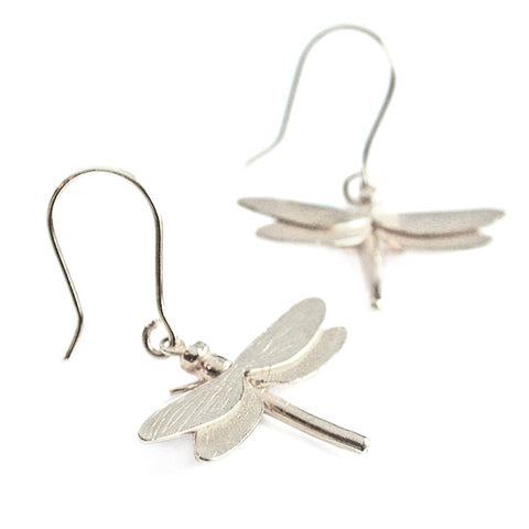 Alex Monroe | Silver Dragonfly Earrings -  Bloomsbury Store