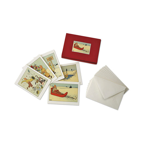 Set of 10 Assorted Tintin Christmas Cards | Moulinsart  | Bloomsbury Store