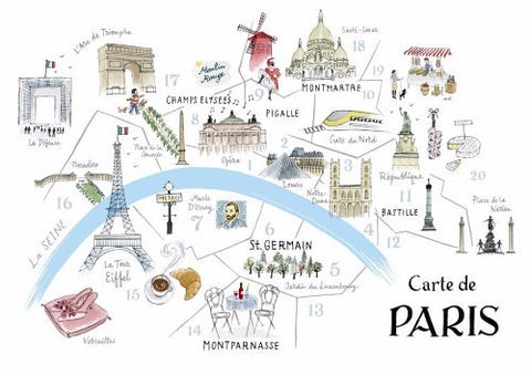 Alice Tait Print | Paris Map  | Bloomsbury Store