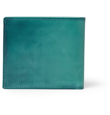 Paul Smith Accessories | Burnished Leather Wallet Green -  Bloomsbury Store - 1