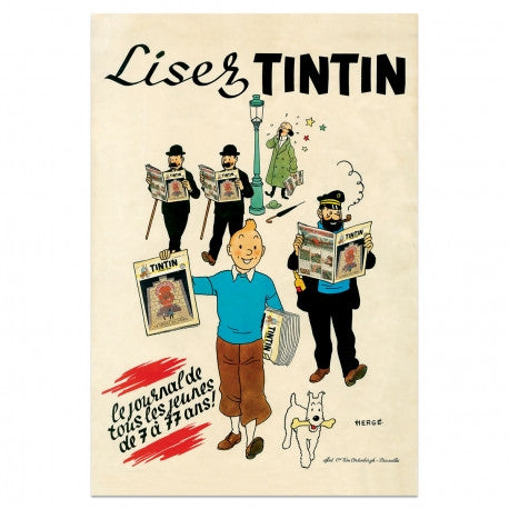 Tintin Poster | Lisez Boxed -  Bloomsbury Store - 1