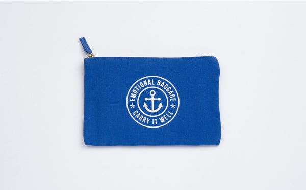 Emotional Baggage Pouch | Blue  | Bloomsbury Store - 1