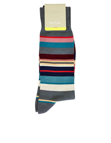 Paul Smith Accessories | Grey Bright Stripe Socks -  Bloomsbury Store - 1
