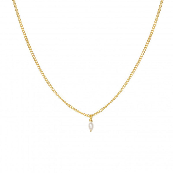 Necklace Tiny Seed Pearl | Gold Plated -  Bloomsbury Store