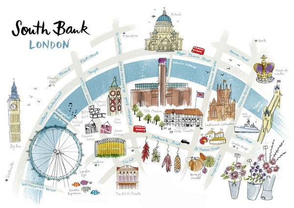 Alice Tait Print | South Bank London -  Bloomsbury Store