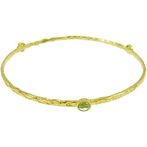 Single Set Stone Bangle Gold Plated | Blue Topaz -  Bloomsbury Store