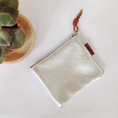 Esther | Coin Purse - Silver Bloomsbury Store - 1