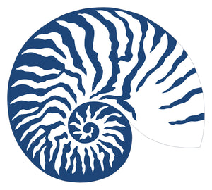 Blue & White Shell Die-cut Placemat