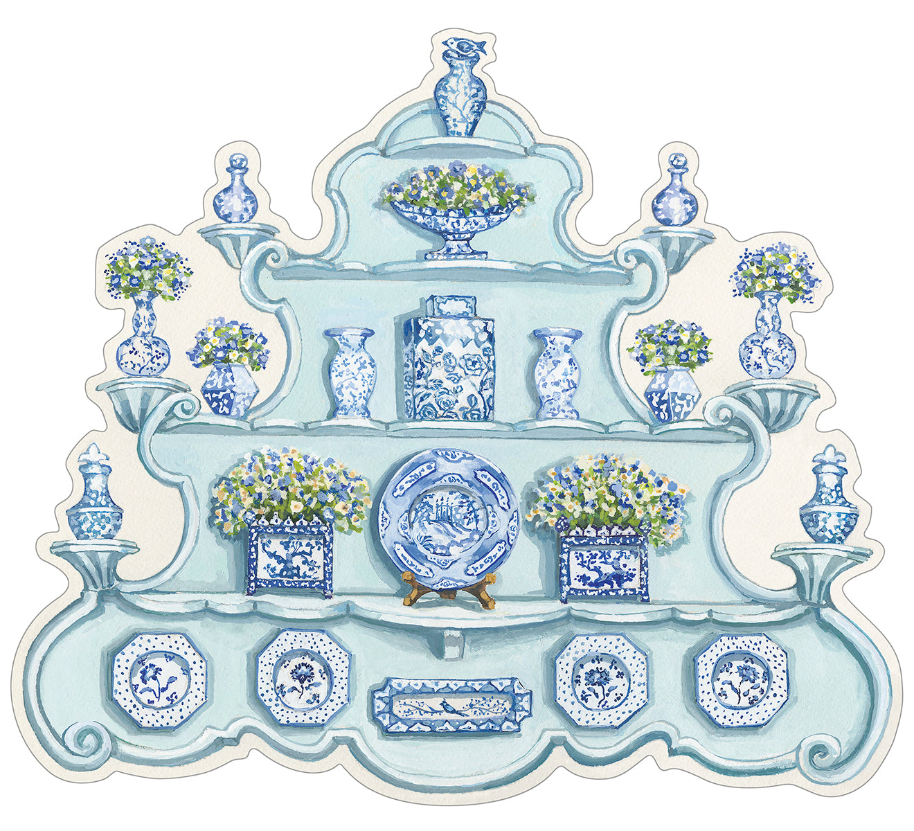 China Cabinet Die-Cut Placemat