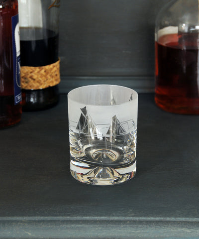 Glass tumbler all at sea