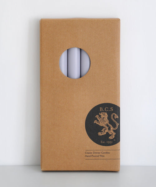 Boxed Gull Grey Dinner Candles