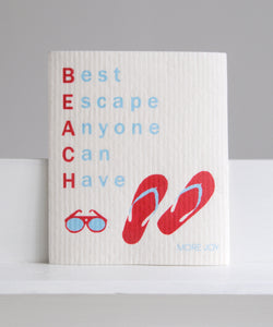 beach escape dishcloth