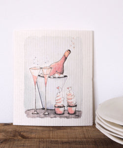 Champagne Dishcloth