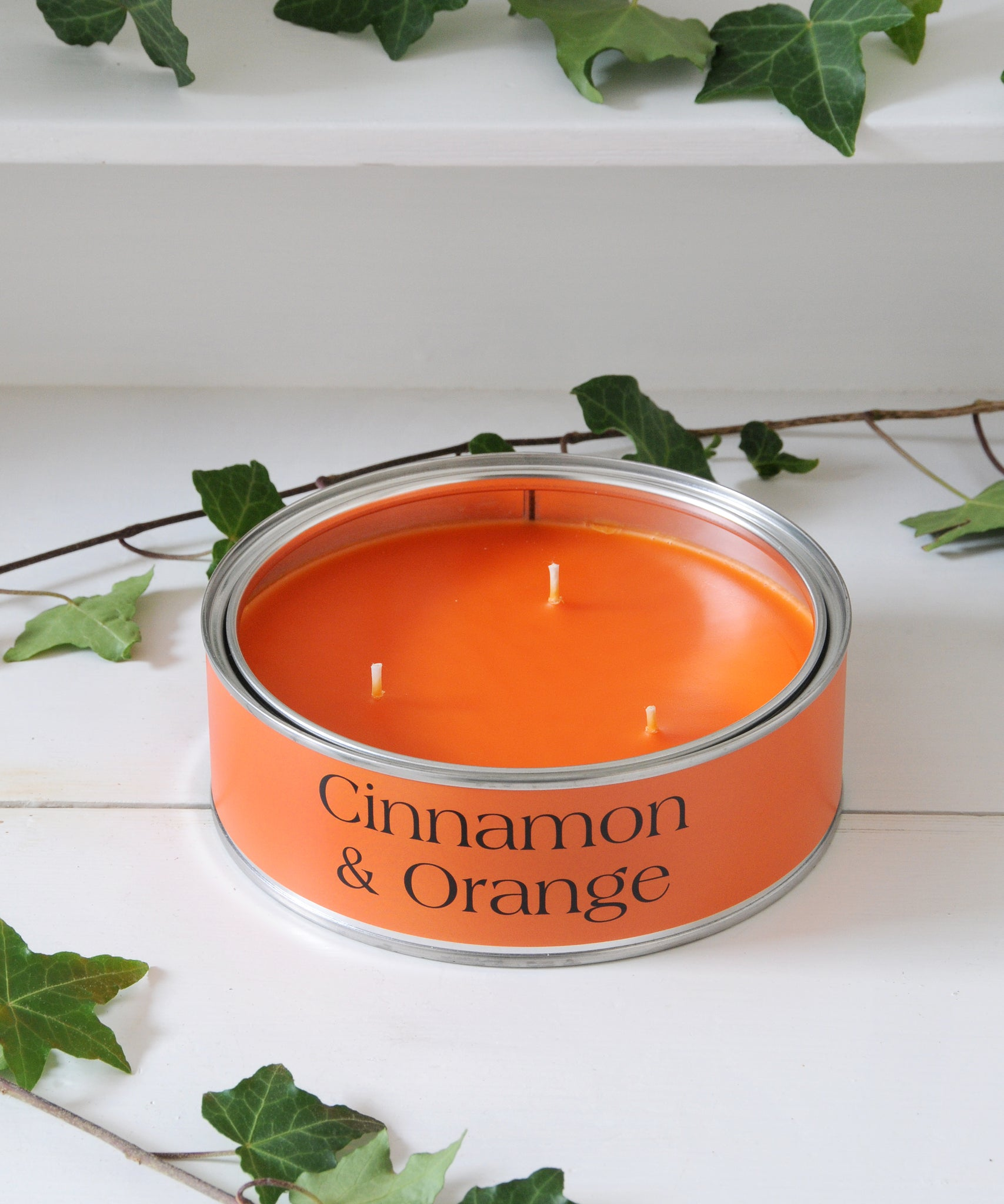 cinnamon & orange large candle