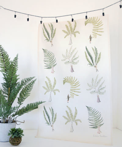 Multi Fern Tea Towel