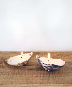 Oyster shell Candles