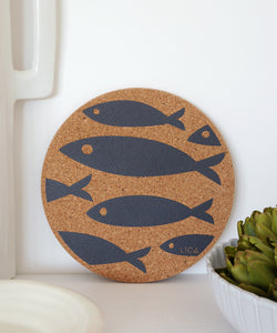 Grey Fish Cork Placemat