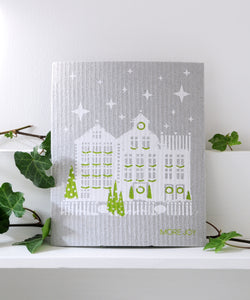 Christmas City Dishcloth