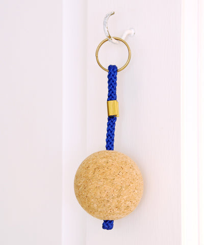 cork ball keyring