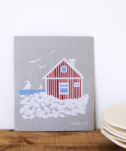 Beach Hut Dishcloth