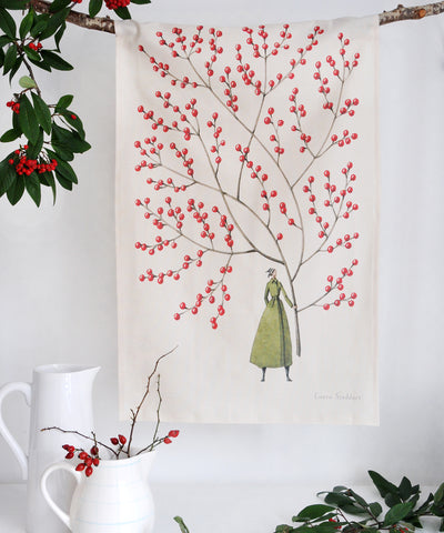 Red Berries Tea Towel