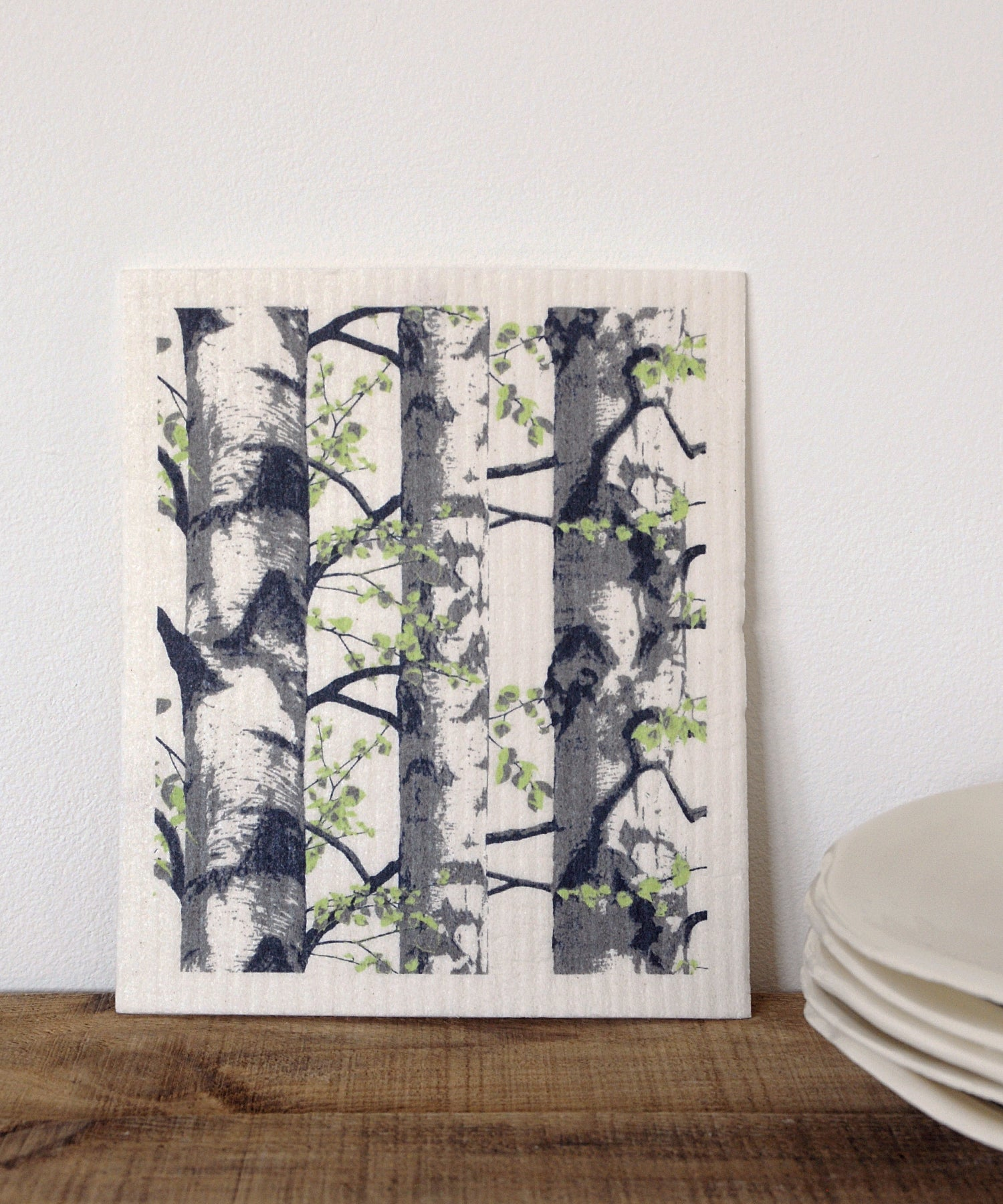 Birch Trees Dishcloth