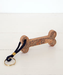 bone cork keyring