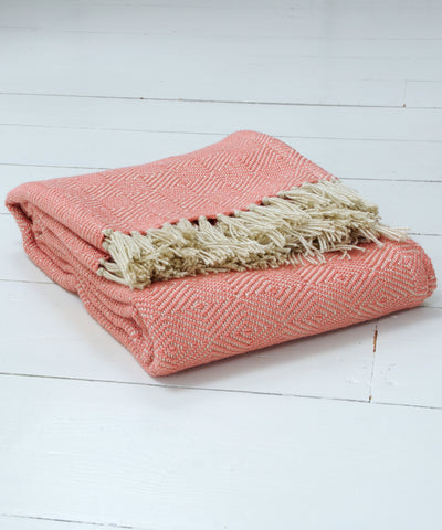 Coral Diamond Blanket