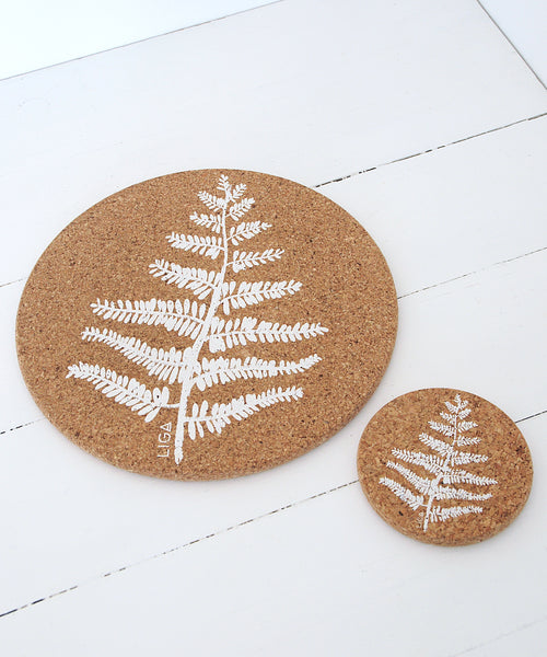 Fern Cork Coaster & placemat