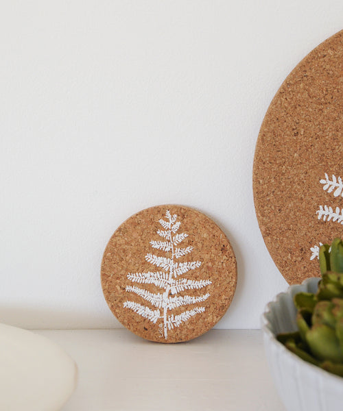 Fern Cork Coaster