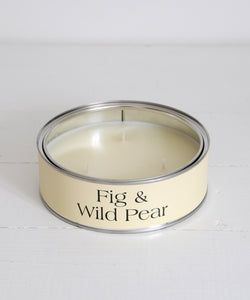 large fig and wild pear tin candle