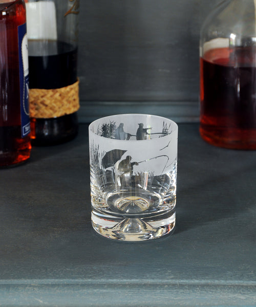 fishing design glass tumbler