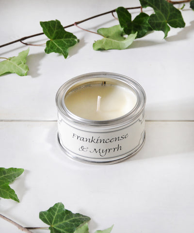 Frankincense & Myrrh small tin candle