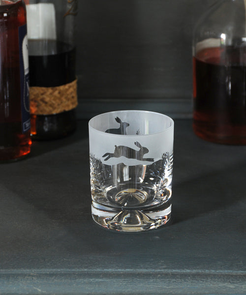 hare design glass tumbler