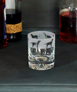 Labrador dog design glass tumbler