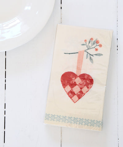 Berry Heart Napkins