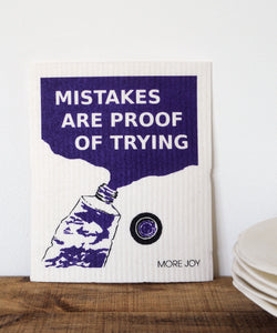 Mistakes are proof of trying dishcloth