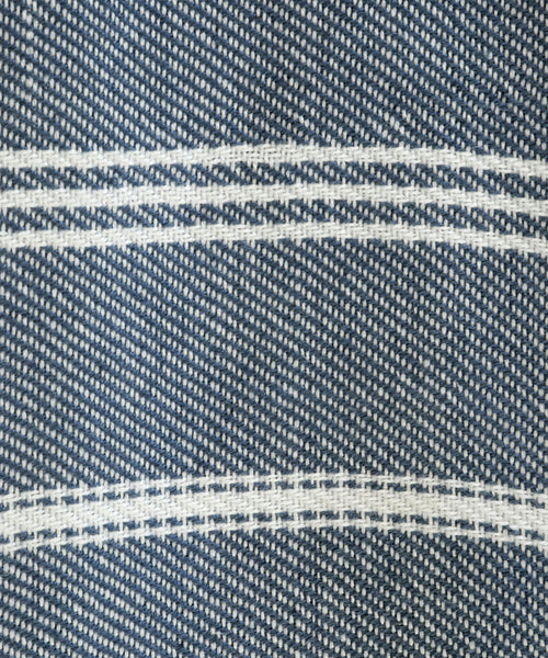 Navy Stripe Blanket detail