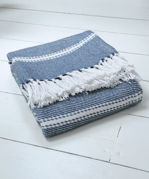 Navy Stripe Blanket
