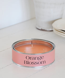 orange blossom large tin candle
