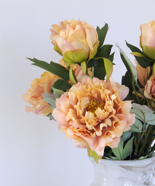 yellow fashion peony stem