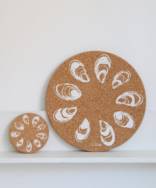 Oyster Cork Coaster & Placemat